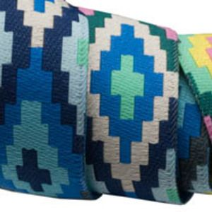 Amy Butler - Amy Butler Ribbons - Spirit Weave in Blue Green and Yellow