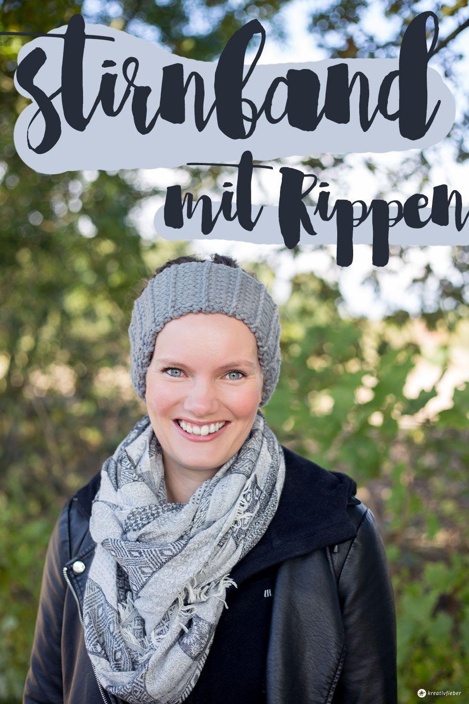 DIY Stirnband mit Rippen stricken - kleine Geschenkidee | Rippen ...
