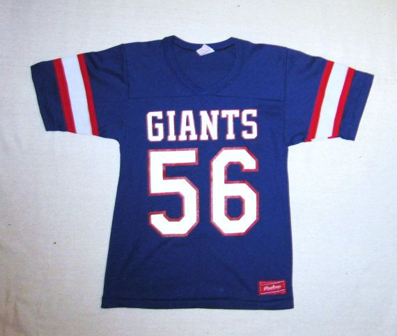 Vintage Rare 80s LAWRENCE TAYLOR GIANTS Number 56 New York Football Unisex  Small Amazing Super Bowl Rawlings 50 50 Sports Jersey 8f1ddb384