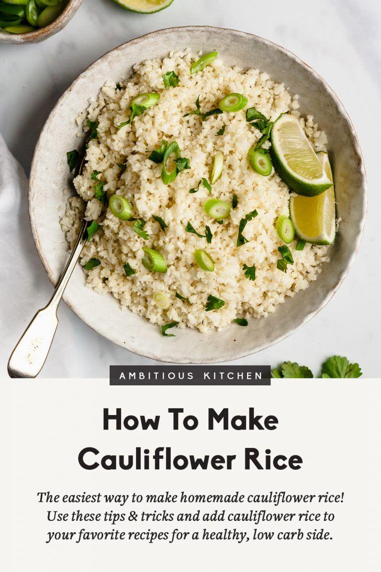 How to Make Cauliflower Rice Recipe Food processor