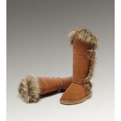 ugg fox fur tall 1984 chestnut boots eat my feet pinterest rh pinterest co uk