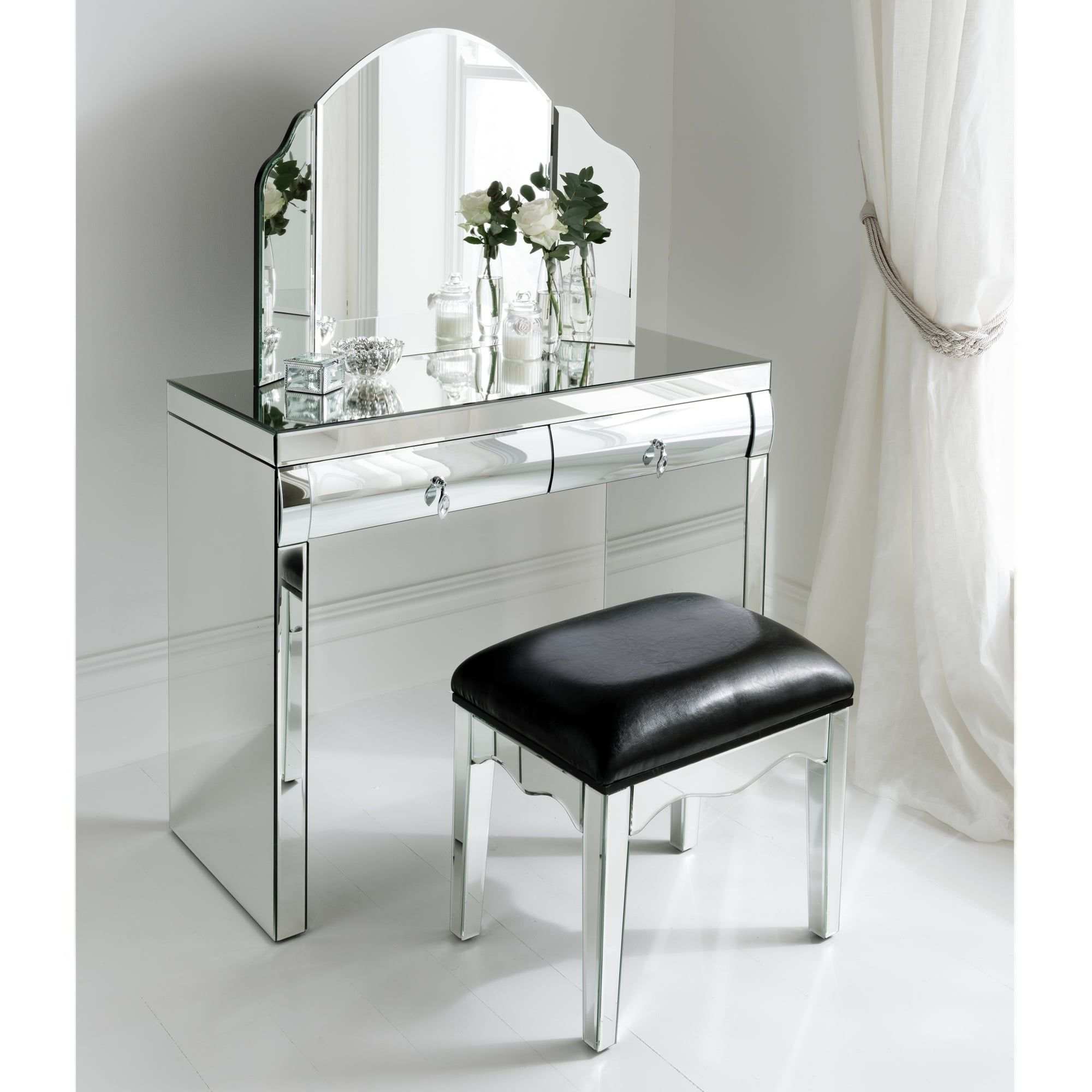 Dressing table with mirror mirrored dressing table set  lachpage  pinterest