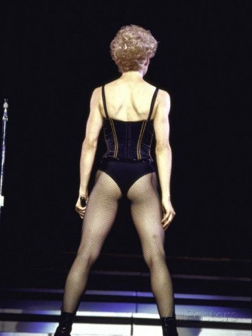 Singer Madonna Performing, Back to Camera - Who's that Girl World Tour 1987