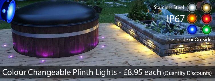 Colour changeable led plinth and deck lights for the kitchen colour changeable led plinth and deck lights for the kitchen bathroom and garden aloadofball Choice Image
