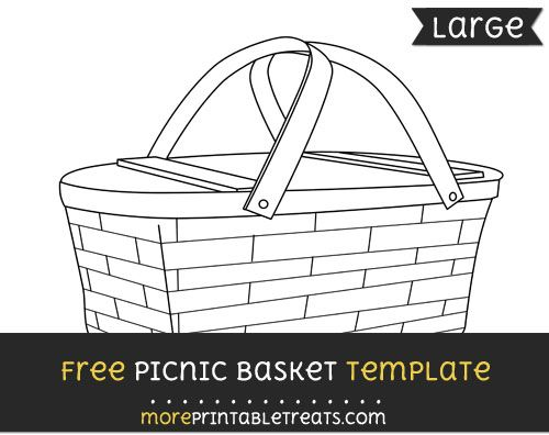 free picnic basket template large shapes and templates