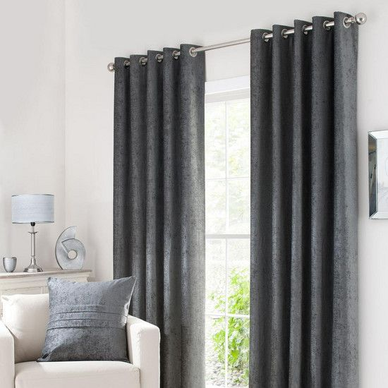 Grey Chenille Curtain Collection Dunelm Front Spare