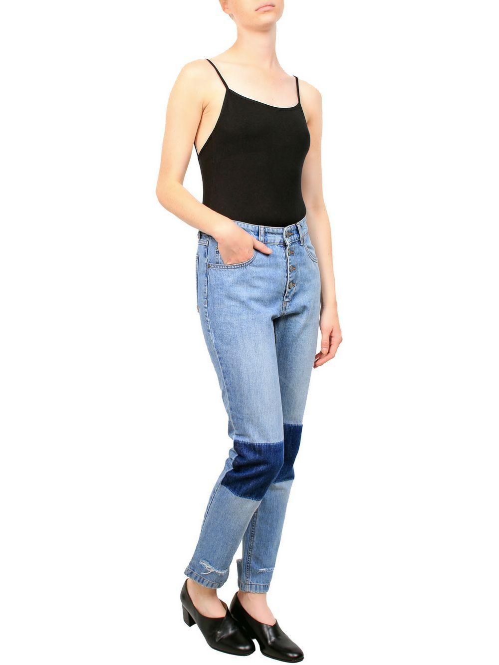 Mrs h anine bing loose fit jeans vintage wash denim