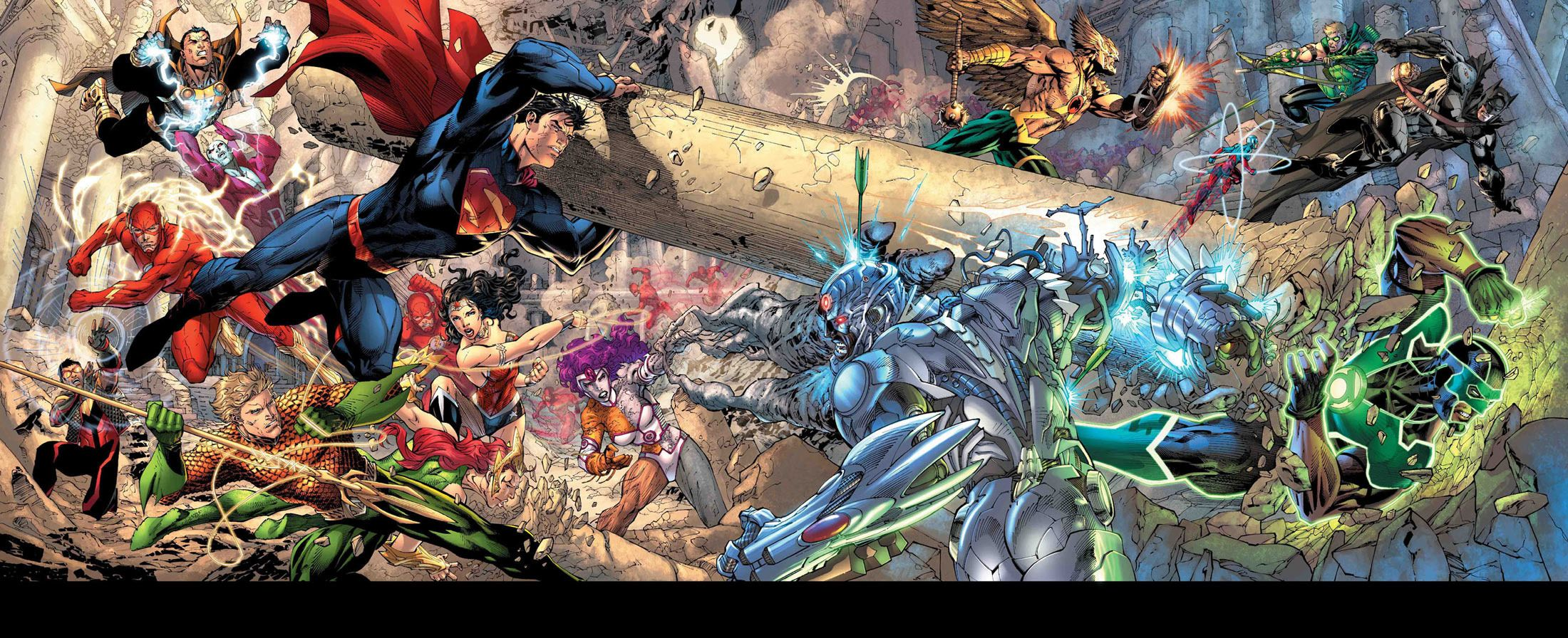 Justice League battle | Comic Book Art | Pinterest | Justice league ...