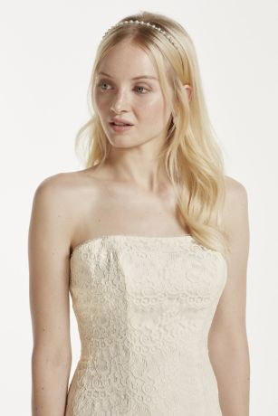 Strapless Lace Trumpet with Tulle Skirt Style KP3765   Tulle skirts     Designed for the bride seeking effortless class on her wedding day  This  clean and fresh looking trumpet silhouette features a figure flattering  bodice