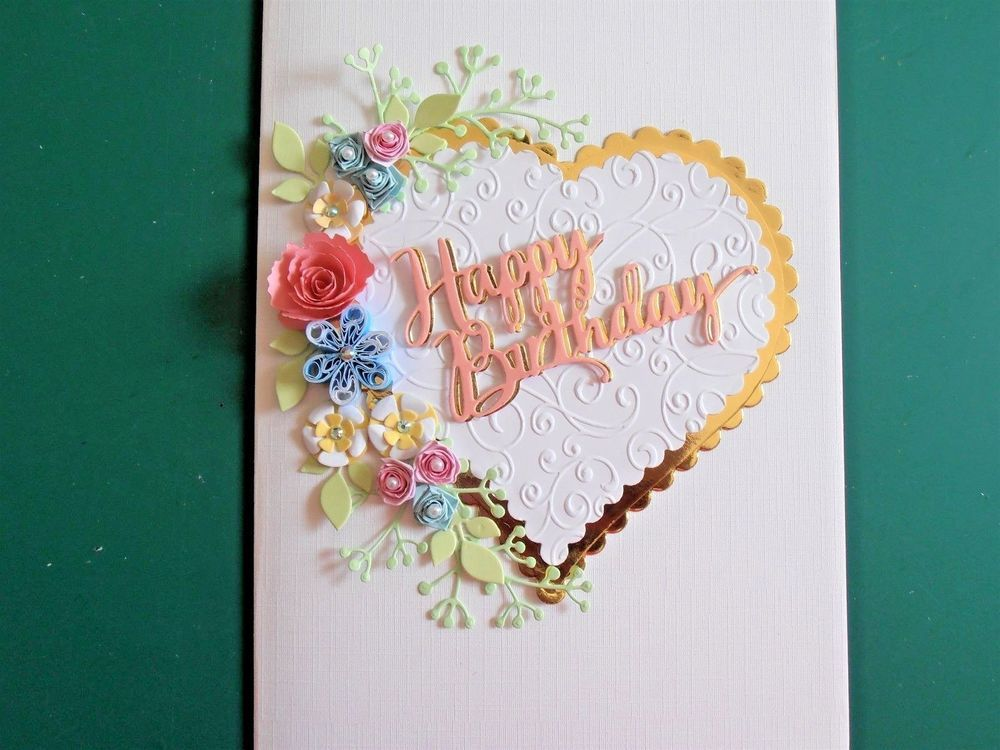 Personalised Handmade Luxury 40th,50th,60th 100th Birthday Card Boxed pinks