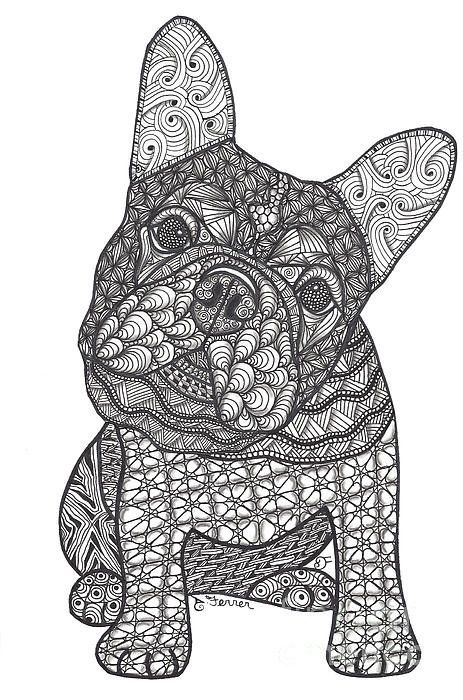 Can We French Bulldog Art Print By Dianne Ferrer Embroidery