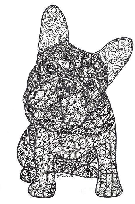 Coloriage Mandala Monstre.Can We French Bulldog Art Print Dessin Coloriage