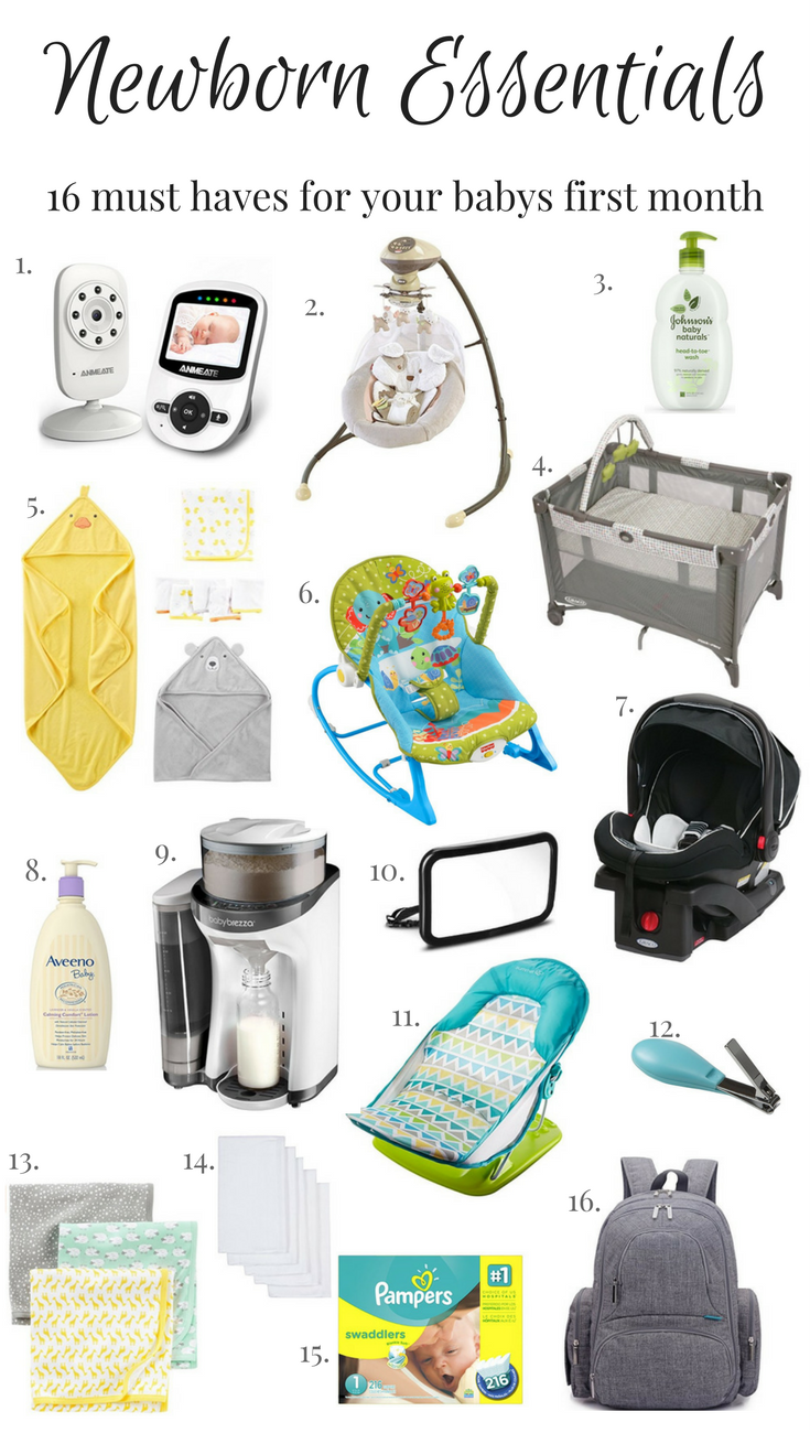 b4afd76aa Newborn Essentials - 16 Must Haves For Your Baby s First Month ...