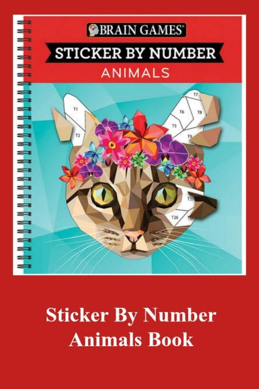 Sticker By Number Animals Book Activitybook
