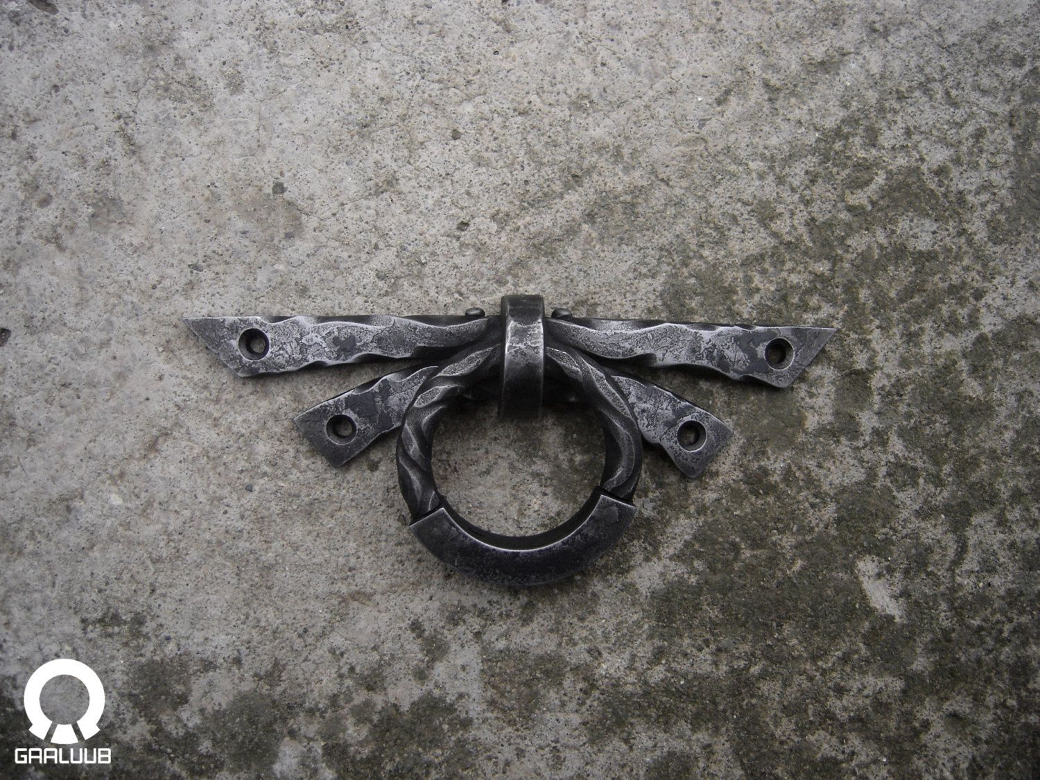 Delora-Unique wrought iron ring pull / Hand forged door ...