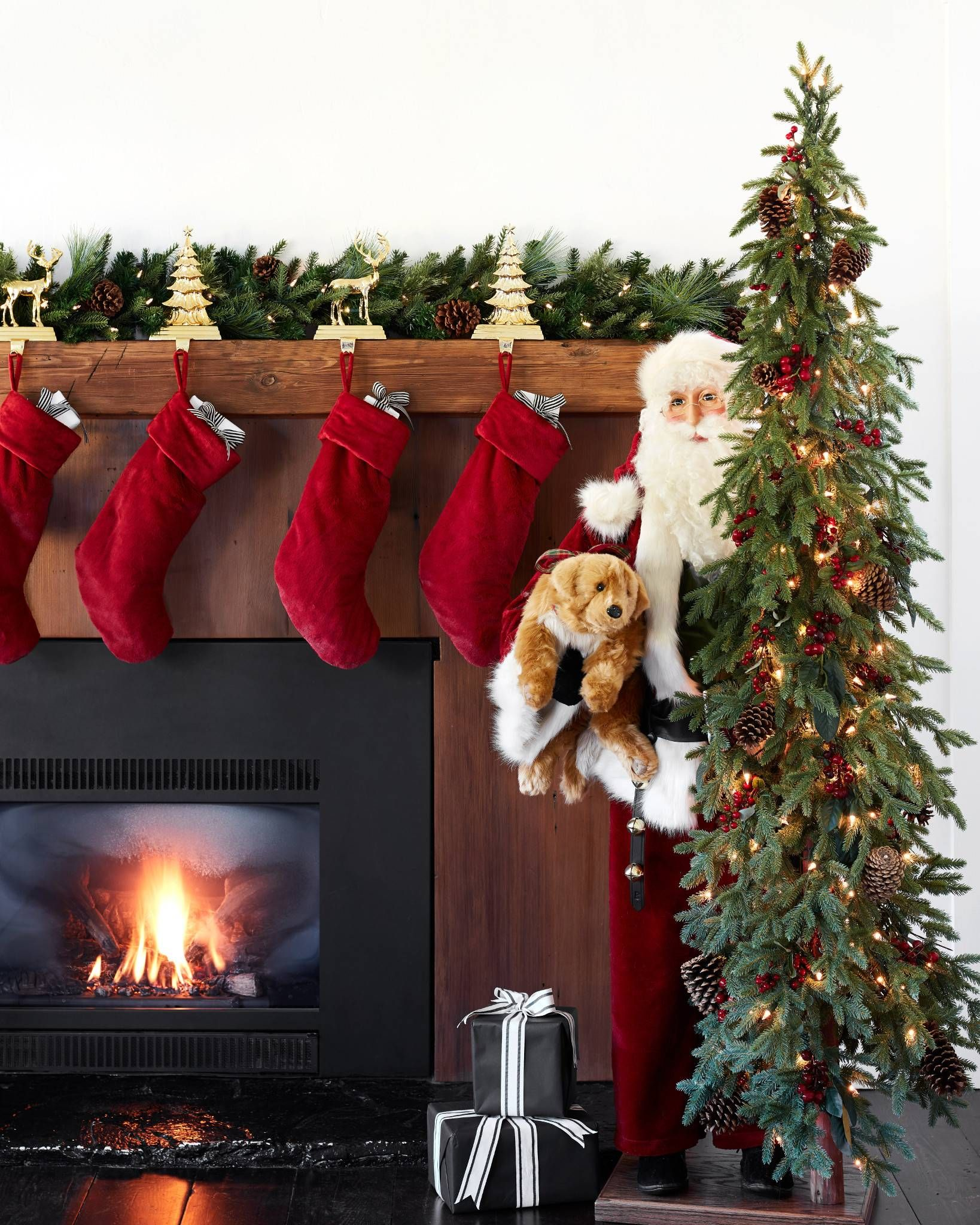 Display Individually Or Group Our Cast Metal Stocking Holders Together To Create A Bold Focal Point On Y Stocking Holders Holiday Mantel Christmas Collectibles