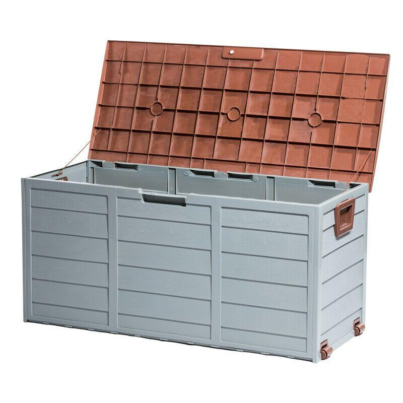 Outdoor Waterproof Deck Box Storage Container Patio Garage Backyard 79 Gallon Outdoor Storage Ideas Of Outdo Patio Storage Box Pool Supplies Patio Storage