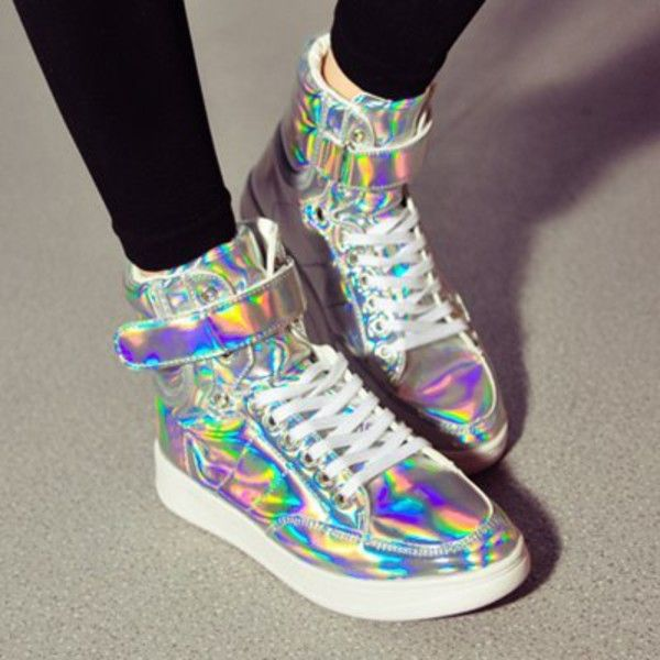 c8d3b382a670c Holographic High Top Sneakers