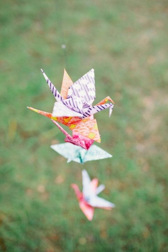 Fold 1000 Paper Cranes To Symbolize Love Patience And Longevity