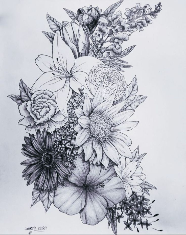 Photo of #flowertattoos – Flower Tattoo Designs