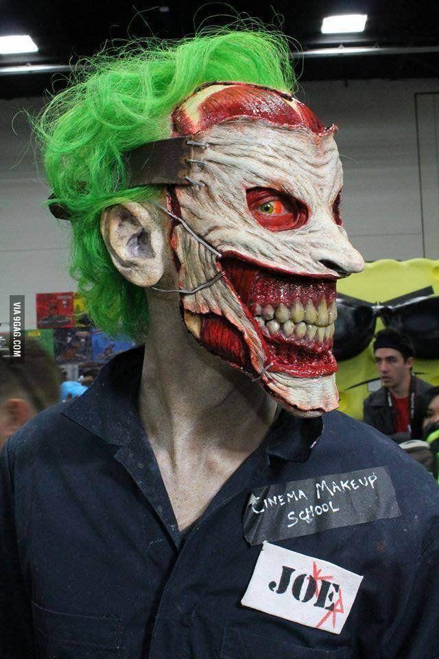 Scary joker cosplay