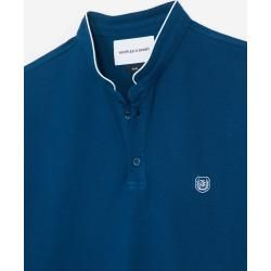 The Kooples - Blue insignia slim fit polo with buttons - Damen