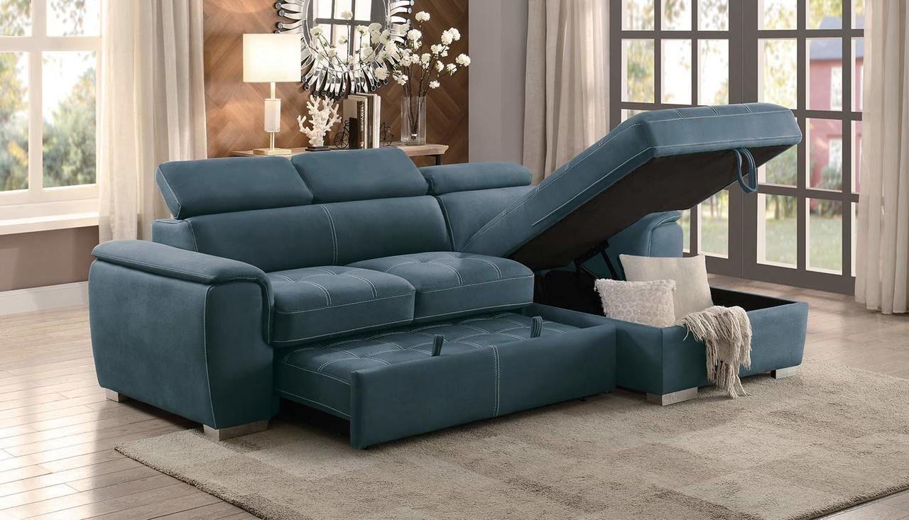 Blue Sectional Sleeper Sofa   Sofa design, Sectional ...