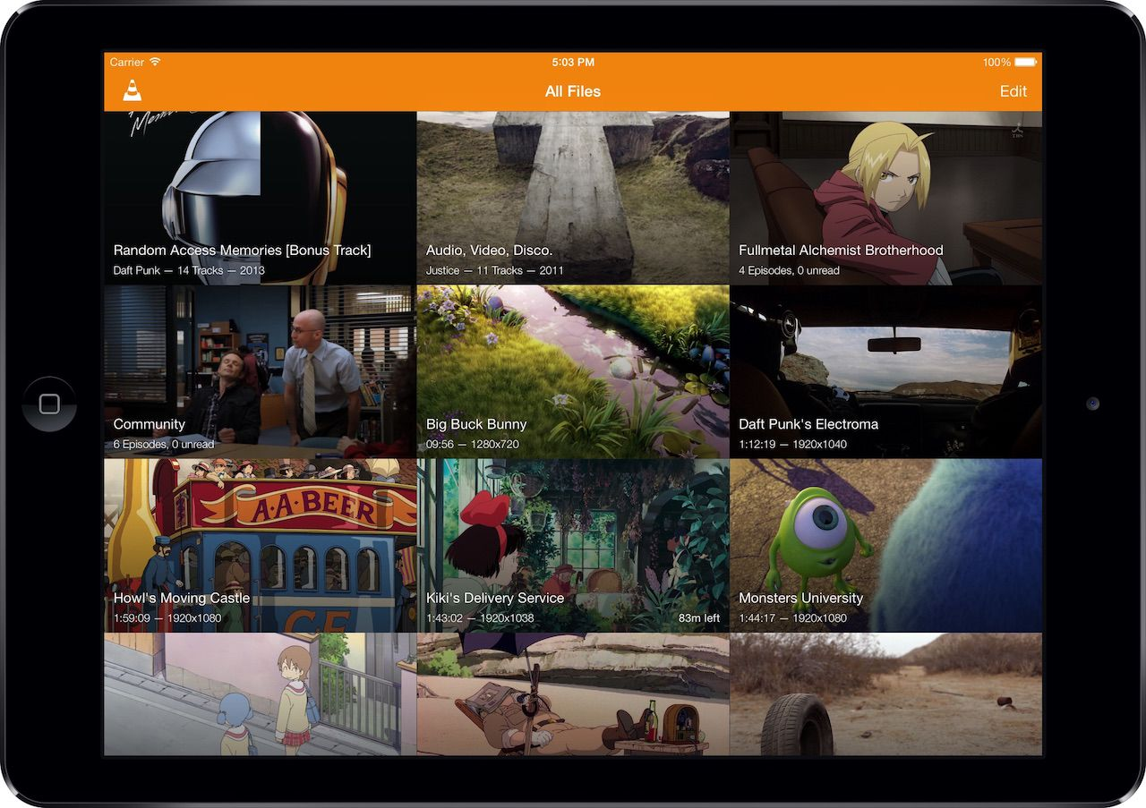 VLC media player VLC on iPad Apple tv, App