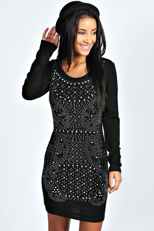 Ebba embellished knitted jumper dress clothes pinterest jumper