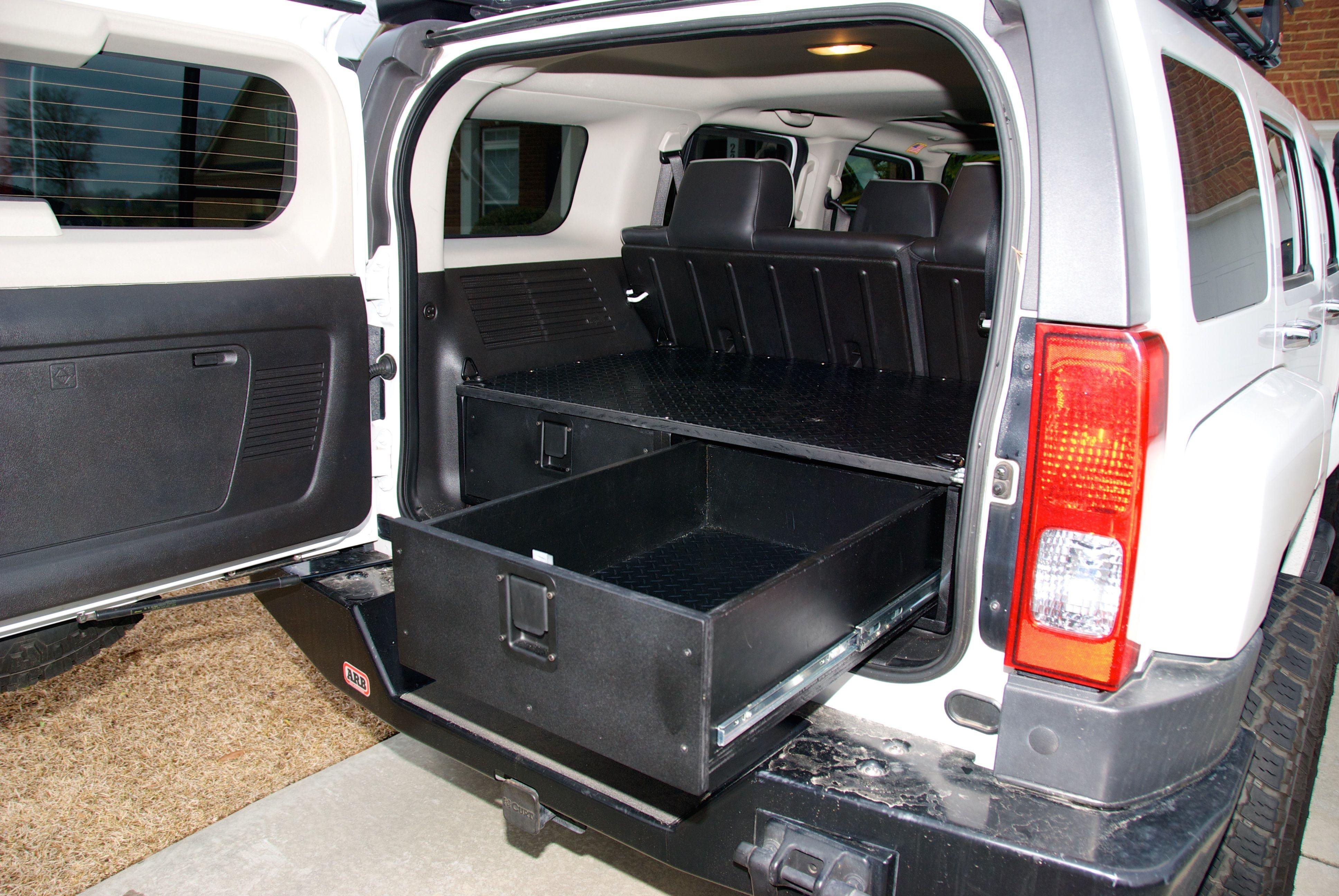 Diy Custom Drawers For Hummer H3 Hummer Hummer H3 Hummer Jeep