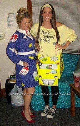 Fun Magic School Bus and Ms Frizzle Halloween Costume costumes - school halloween costume ideas