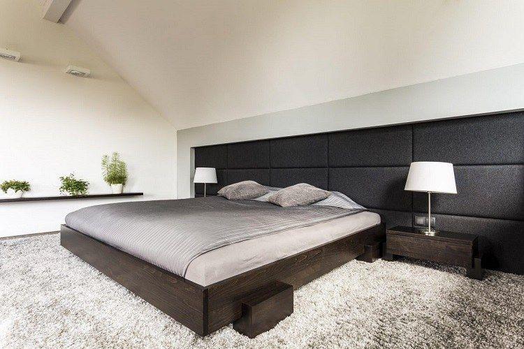 Mur capitonné chambre à coucher : idées pour une ambiance super cosy ...