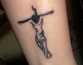 Tribal Jesus Cross Tattoo | Tattoo | Jesus tattoo, Jesus tattoo ...