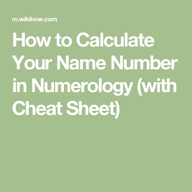 Name number numerology calculator