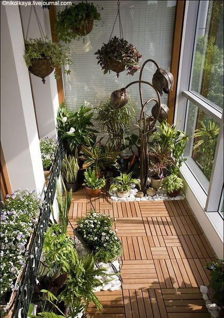 47 Tolle kleine Balkon Garden Ideen – Garten DIY #balkondeko