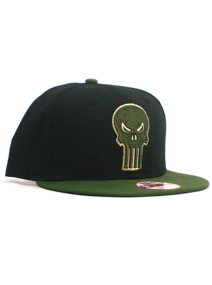 best service a7633 44856 New Era Punisher 9fifty Snapback Hat Adjustable Cap Marvel Comics Black  Green  fashion  clothing  shoes  accessories  mensaccessories  hats (ebay  link)