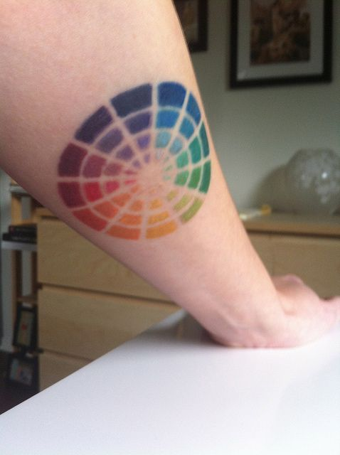 Color Wheel Tattoo by Karly West, via Flickr