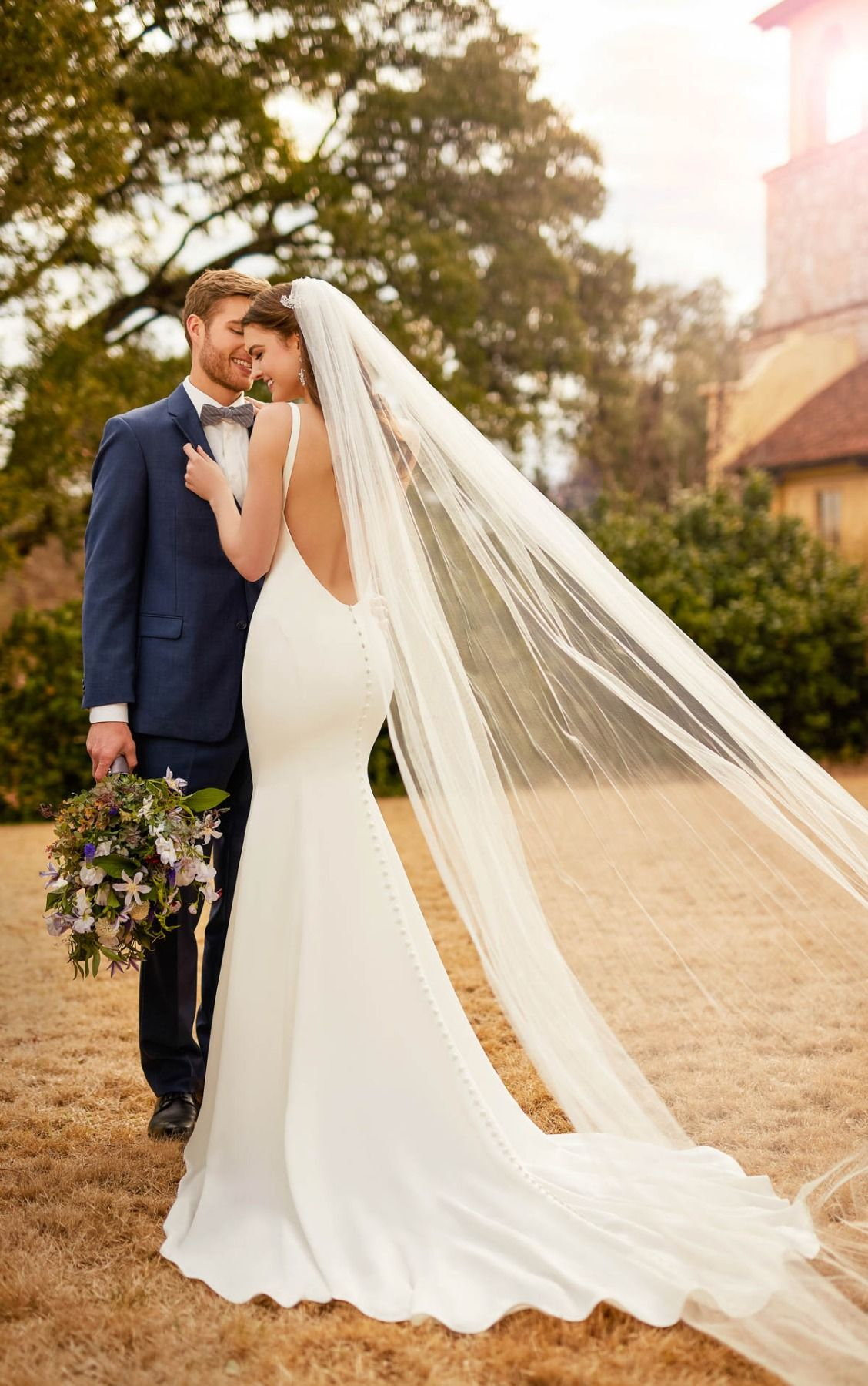 Wedding Dresses Backless Crepe Wedding Gown Essense of