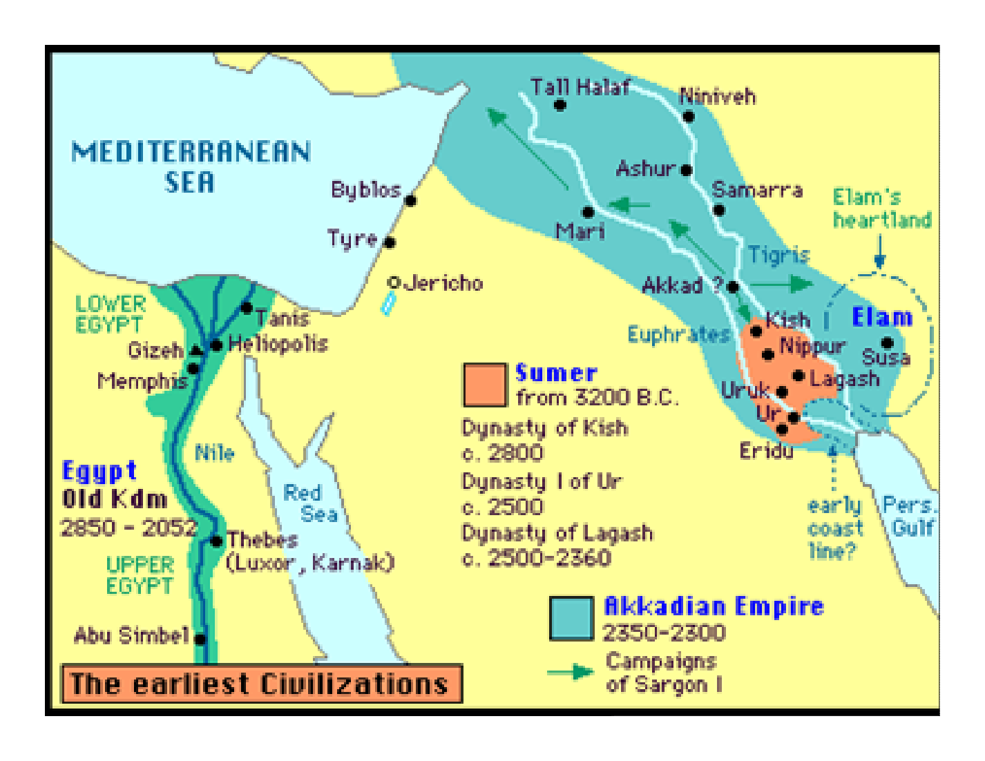 Kingdoms Of Ancient Civilizations Bc