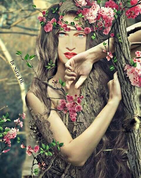 Madonna_Madder_of_Nature. Digital Art by SaraDi. 🍁🍁🌻🌻🌺🌺🌸🌸🌹🌹