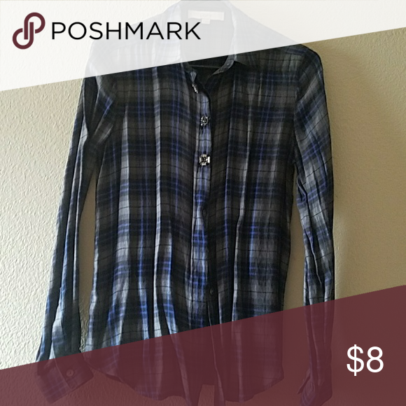 Button Down Cute polyester blend button down with jeweled buttons on the top 3 Ann Taylor LOFT Tops Button Down Shirts