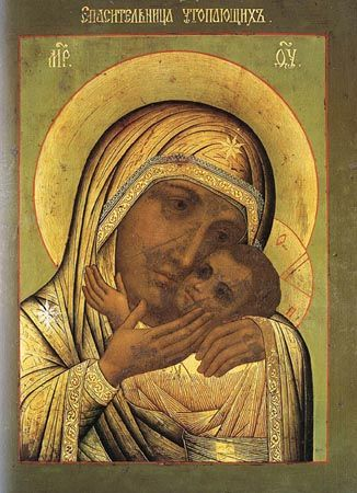 "The wonderworking ""Rescuer of the Drowning"" Icon of the Mother of God (Novodvorsk), celebrated Dec 20"