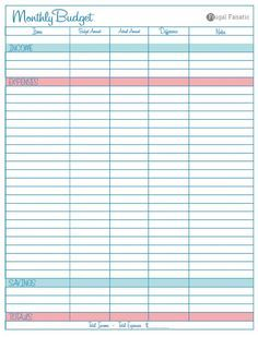 blank monthly budget worksheet financial pinterest budgeting