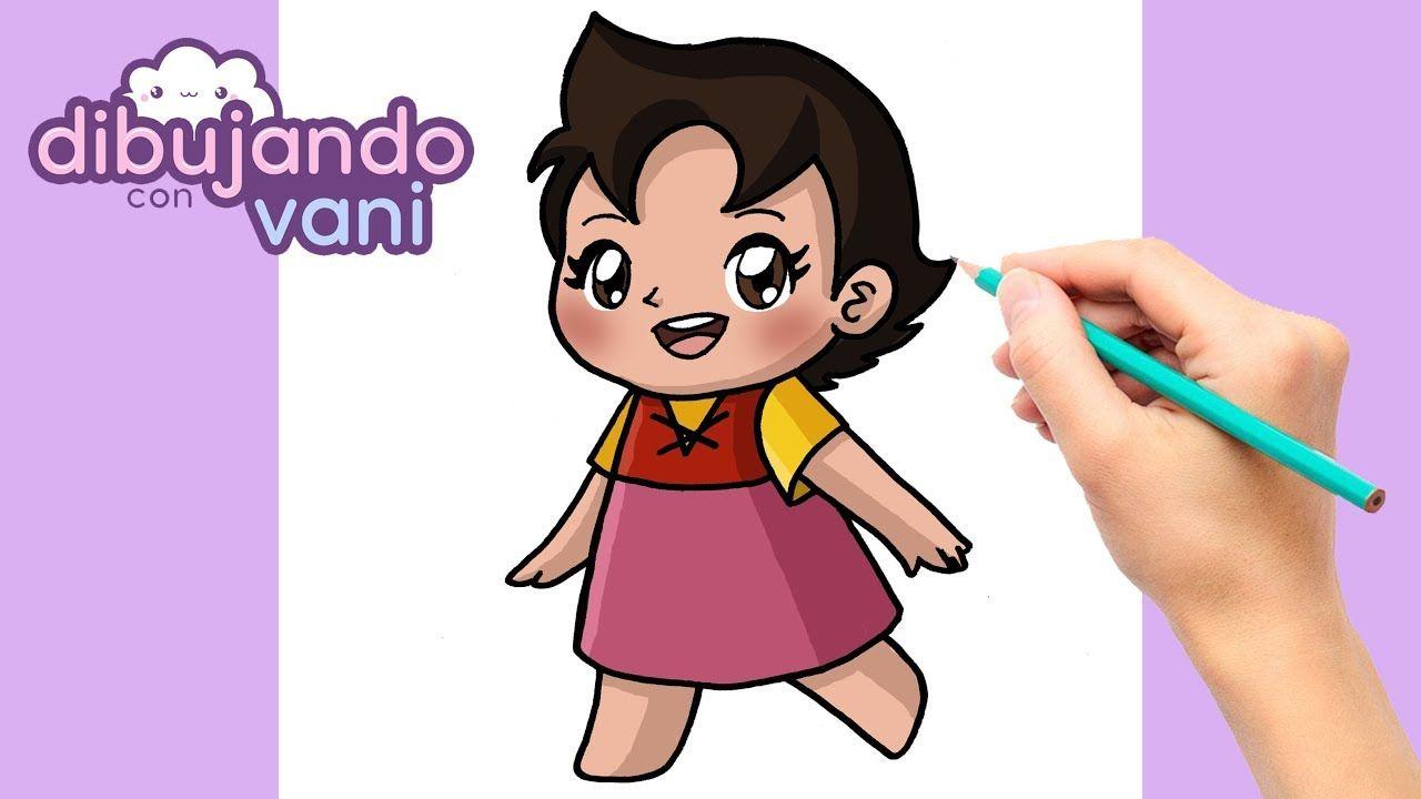 Como Dibujar A Heidi Kawaii Dibujos Imagenes Faciles Anime Para Colore Kawaii Disney Dibujos Kawaii Dibujos