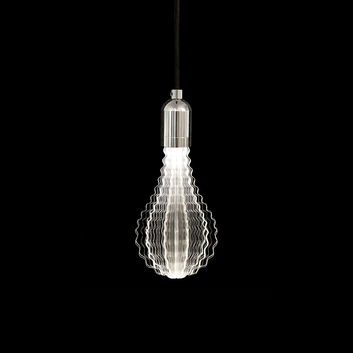 Hanging Lamp With The Laser Etched Led Bulb Innovative And Modern Home Decor Design Lighting Lightbulb Homede Light Bulb Led Light Bulb Solar Led Lights