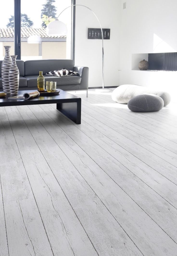 Light Gray Wood Virgin Material PVC Flooring for Home | 450 Kitchen ...