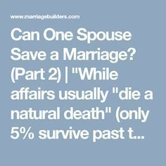 can one spouse save a marriage letter 2