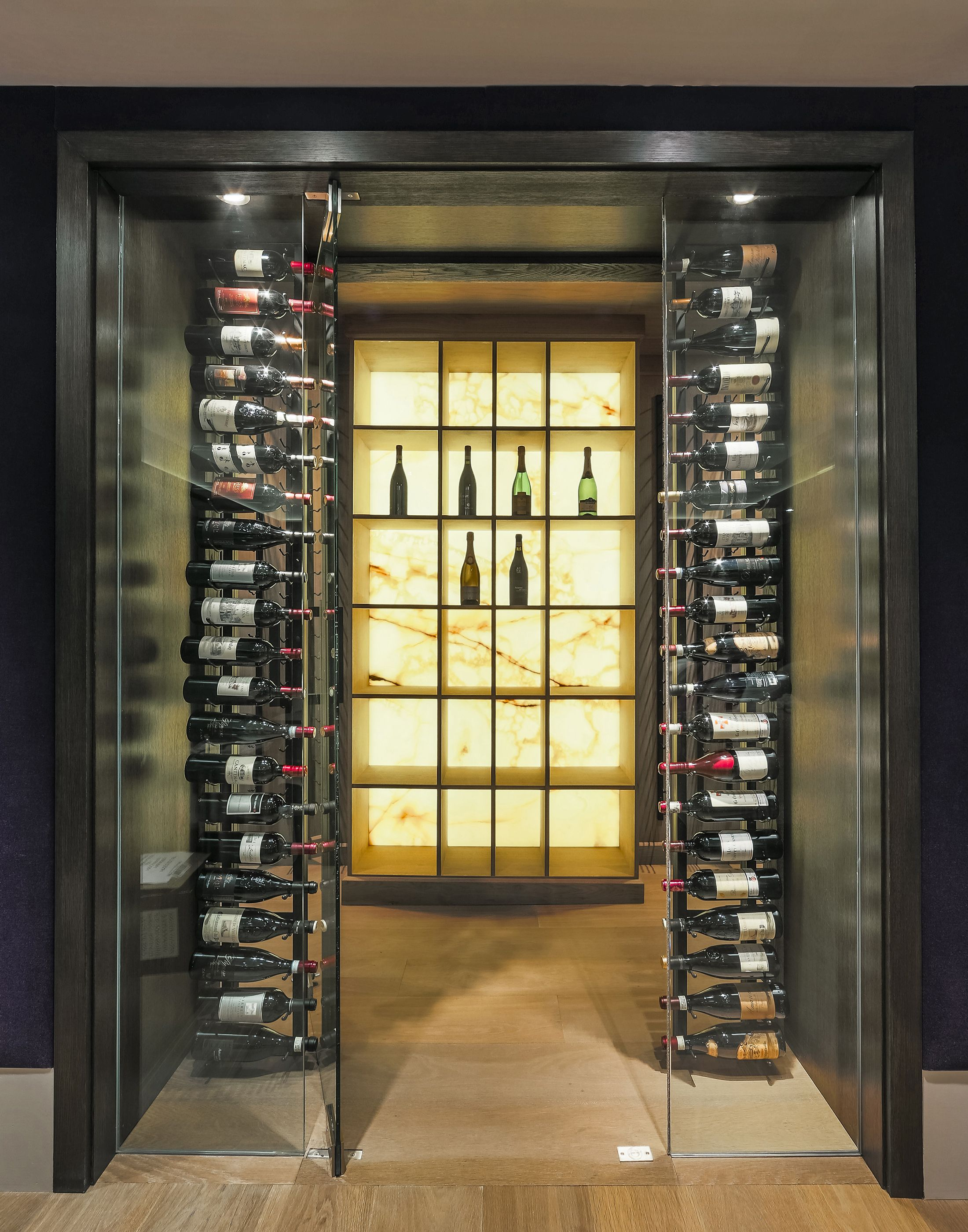 This Transitional Custom Wine Cellar By Papro Consulting Wwwpaproconsultingcom Is