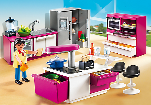 Playmobil city life cuisine avec lot petit petit for Cuisine playmobil