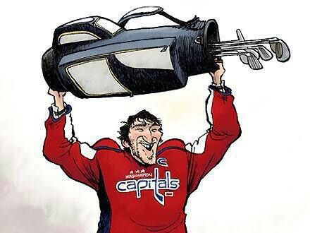 Image result for ovechkin golfing